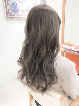 10代/20代/30代アッシュブラウンデザインカラー☆デジタルパーマ