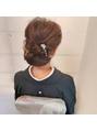 留袖に上品×しっとりしたボリュームシニヨンヘアスタイル