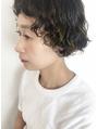 強めパーマ/大人ショート/裾カラー