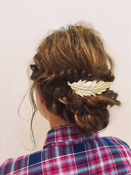 【felia】結婚式や成人式に!きれいめ編み込みアップ