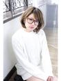 amaca♪イルミナブルージュ系やんわり可愛いメガネアレンジBOB
