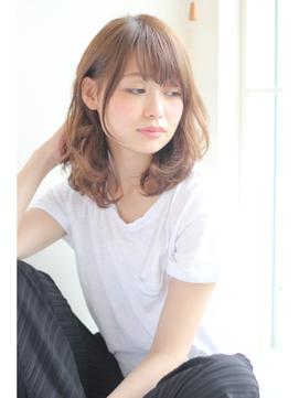 【GARDEN】ミディアムワンカールパーマでふんわり小顔(田塚裕志)