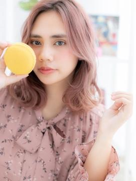 【macaron】顔周りで差がつく韓国風くびれヘア