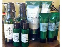 オーガニック系のヘアケア商品も取り揃えております。