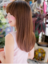 *+COVER HAIR+*…斜めバングの♪小顔シルキーストレート♪c .12