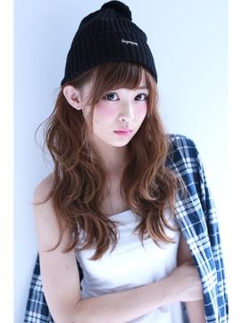 【Lilly】ロング×ニット帽アレンジ