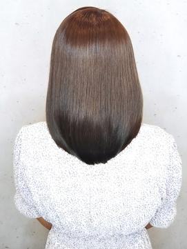 ◆大人女子にオススメ!愛されミディ×髪質改善 暗髪カラー