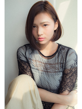 【Euphoria銀座本店】ラインのきれいな前下がりボブ☆長谷川