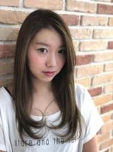 かき上げバング×ひし形シルエット★グレージュロング.19