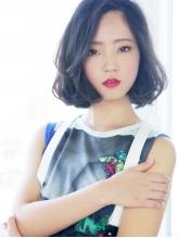 【ヘアジュレドゥ 松田】 黒髪可愛い☆ウェービーボブ 上品.40