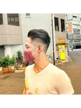 【大流行】オールバックフェードスタイル