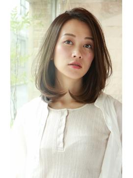 【lien.相楽顕】大人かわいいストレートヘア/ココアブラウン