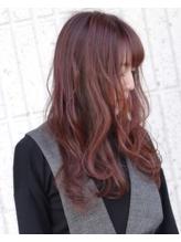 [バレーチェア]横顔美人な3Dパープルピンクフェミニンロング☆.48