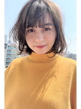 小顔ナチュラルボブ×ベージュカラー/無造作カール.21