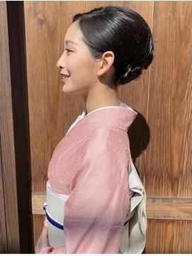 大人女性の和風アップスタイル  ヘアセット/着付