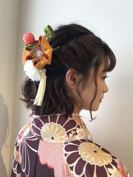 ☆卒業式ボブハーフアップ☆鶴川 町田 美容室 袴 着付け