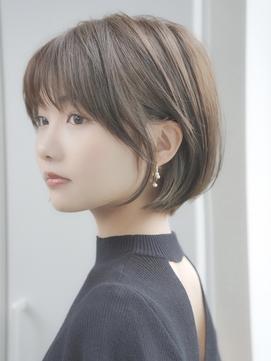 前髪あり大人ショートボブ20代30代40代【AIN.表参道】川原大地