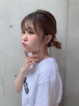 【Euphoria】フェミニンゆるふわ簡単ローポニー☆
