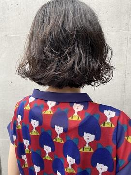【三ツ井純】コテ巻き風ボブパーマ 大人可愛い 簡単スタイリング