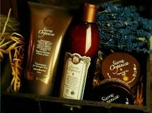 オーガニックヘアケアシリーズのアロマの香りで癒しのひと時を…