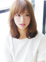 【ヘアジュレドゥ 花井】 カワイイゆるふわロブセミディ☆ ゆるふわ.1