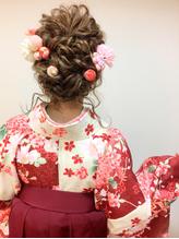 卒業式 袴 成人式 振袖 ルーズ ヘアアレンジ 卒業式.12