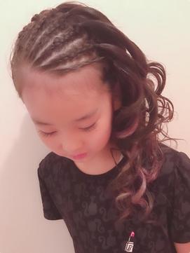 【BLUEFAIRY】キッズダンスセット★コーンロウ&ピンクエクステ