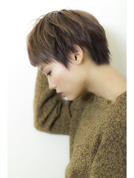 小顔カット×ナチュラブラウン×黒髪