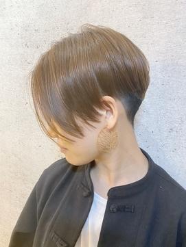 レディースショート/前髪カット/20代30代/フェザーボブ/東久留米