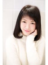 大人可愛い愛されモテ髪黒髪 フェミニン.48