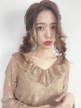 [韓国オルチャン風]ルーズツインテールアレンジ☆