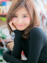 "*+COVER HAIR+*…大人女子のこなれ感""エフォートレス""ミディa くびれカール.17"