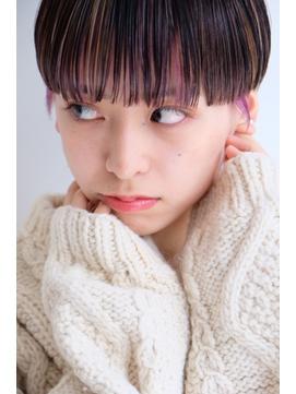 【ささき】髪質改善カット×マッシュショート×インナーカラー