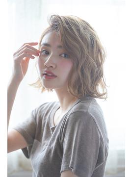 ¥5900☆大人かわいいデジタルパーマミディアムボブ☆毛先パーマ