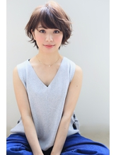 【NOA】モードヘア 3Dカラー ジグザグバング ミニマムボブ.5