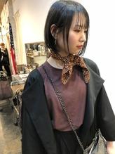 前下がりボブ シースルーバンク  stylist KE-TO.29