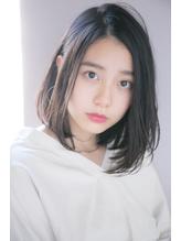【GARDEN西川】前髪なしジェンダーレスフェアリー黒髪小顔ロブ うるツヤ.19