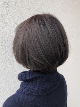 【明るい白髪染め】バイオレット×アッシュのミルフィーユカラー