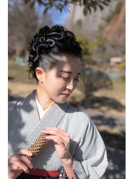 着物ヘア♪卒業式袴ねじりモヒカンAnスタイル【仙台D】SATOMI