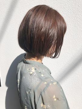 【橋本結依】愛されピンクブラウン×顎ラインボブ