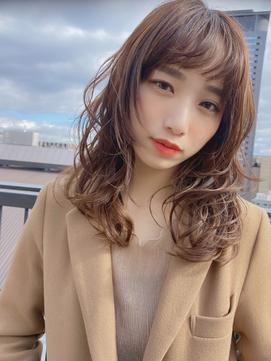 デジタルパーマ/ブランジュ/ワイドバング/秋冬人気/ゆるふわ/