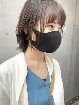 【三ツ井純】大人可愛い レイヤーボブ 透明感カラー 透け感