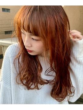【Des.Art赤坂】大人可愛い×艶カラー×オレンジベージュ