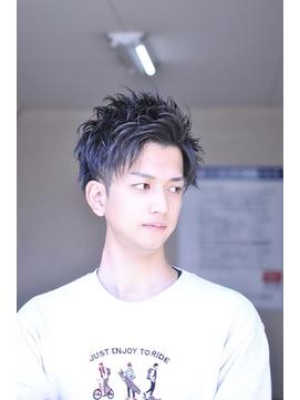 爽やかアップバングビジネス刈り上げ黒髪ショート【BLAZE 大庭】