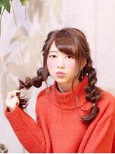 『ロングアレンジ』x『裏4つ編みツインテール』 ツインテール.16