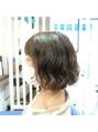 デジタルパーマ/ミディアムパーマ/アッシュベージュ