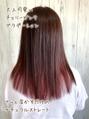 #インナーカラー#くすみカラー#くすみピンク#暖色系カラー#赤茶