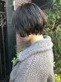 【melt】ラフなワンカールパーマ 大人ショートボブ 透明感カラー