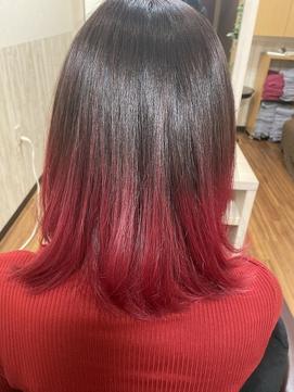 【鬼滅の刃】Lisaの紅蓮華イメージ赤グラデーション