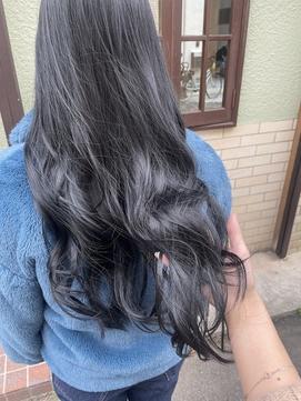 【ayari】黒染めしないブリーチなしのブルーブラック
